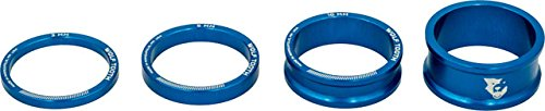 Wolf Tooth Components Headset Spacer Kit 3, 5, 10, 15mm, Blue by Wolf Tooth Components (Image #1)