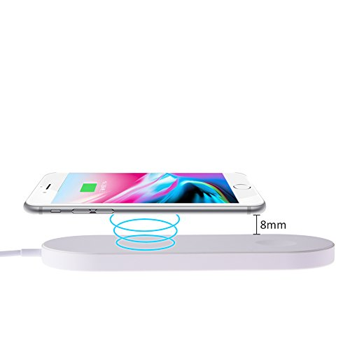 Price comparison product image Portable MINI Fast Wireless Charger, Multi-functional Fast Wireless Charger and Watch 2-in-1 for iwatch Iphone8 IphoneX NOTE8 note5 and Samsung Series