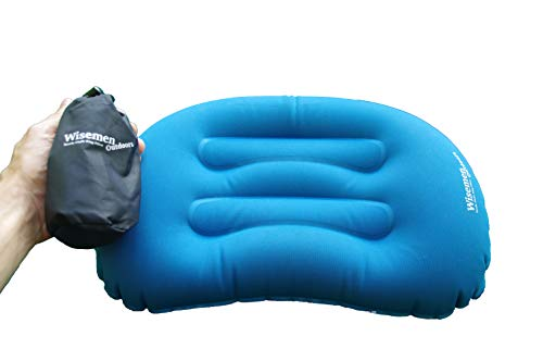 Wisemen Outdoors Ultralight Inflating Travel, Camping, Backpacking Pillow. Compressible. (2 Pack) (2 Pack)