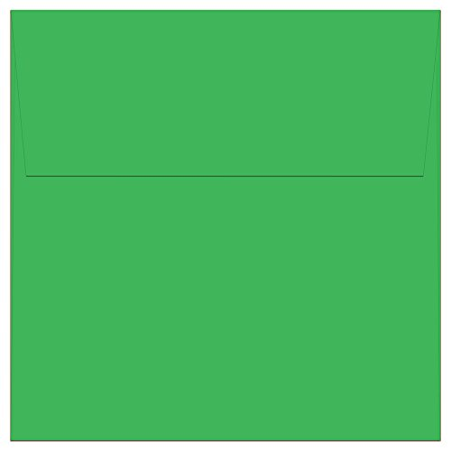 """Discount 100 Green Square Envelopes - 5.5"""" x 5.5"""" - Square Flap free shipping"""