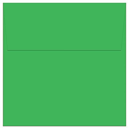 """100 Green Square Envelopes - 5.5"""" x 5.5"""" - Square Flap"""