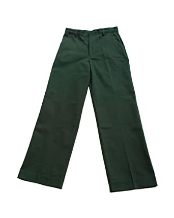 Amazon.com: Boys Green Classic 4 Pocket School Uniform Double Knee ...