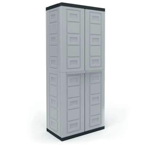 (Contico 4 Shelf Plastic Garage Base Utility Cabinet, Gray )