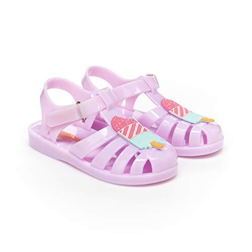 Jelly Pink Medium - OshKosh B'Gosh Marie Girl's Jelly Sandal, Light Pink 11 M US Toddler