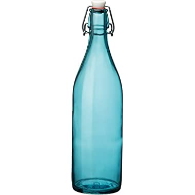 Bormioli Rocco Giara Sky Blue Glass Bottle With Stopper 33 3/4oz