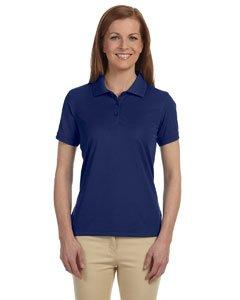 Devon & Jones Women's Short Sleeve Dri-Fast Advantage Solid Mesh Polo Golf Shirt DG385W New Navy Medium