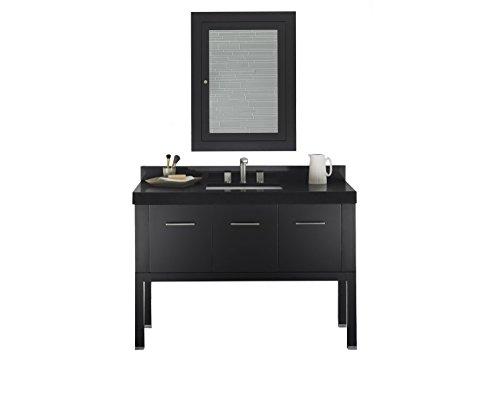 RONBOW Calabria Inch Contemporary Bathroom Vanity Set In Black - 48 inch modern bathroom vanity