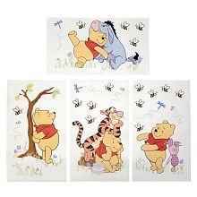 Kids Line Patchwork Pooh Wall Decals - Toys R Us Exclusive