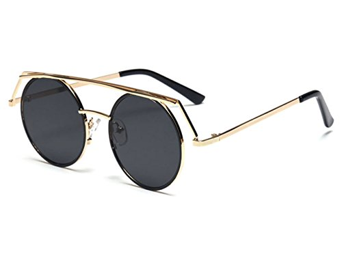 Konalla Personalized Metal Frame Round LensesUV Protective Sunglasses - Sunglasses What Who Wear