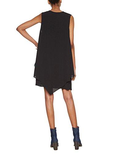 2000 Damen Schwarz Brendon Vest Negro Desigual Kleid 0qTxC