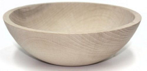 10 Inch Unfinished Solid Beech Wood Bowl