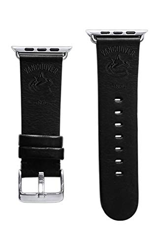 (Game Time Vancouver Canucks Premium Leather Band Compatible with Apple Watch)