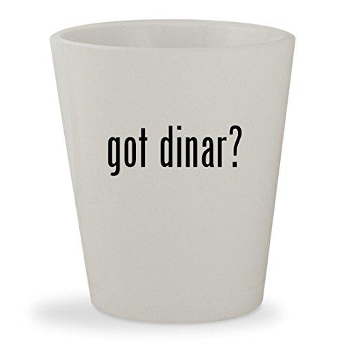 Got Dinar    White Ceramic 1 5Oz Shot Glass