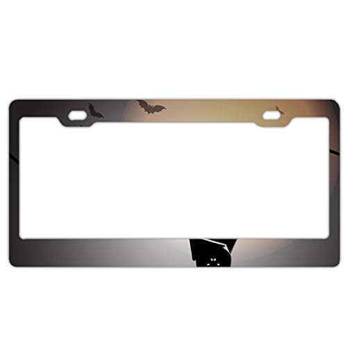 Laura Bunyan Create Halloween Night with Sleep Bats Standard Stainless Steel License Plate Frame -