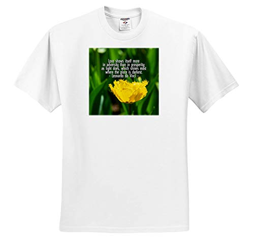 Alexis Design - Quotes Leonardo da Vinci - Love Shows Itself More in Adversity da Vinci Quote, Yellow Tulip - T-Shirts - Toddler T-Shirt (3T) (ts_303724_16)