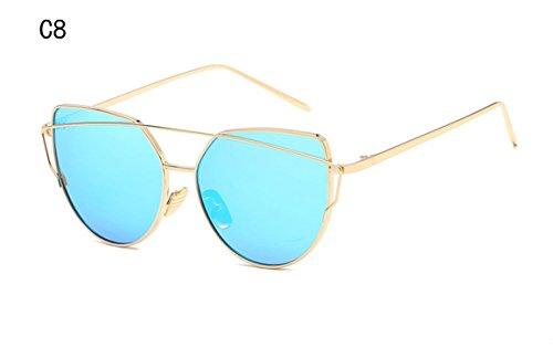 Gradient Ocean Lens Cat Eye Sunglasses Ladies Alloy Full Frame Sun Glasses  oculos de sol UV400 C8 4b63fa082b
