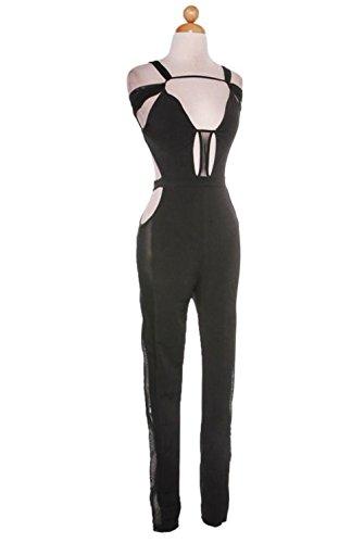 Angel Brinks Fashion Women's Jennifer Bodysuit M Black