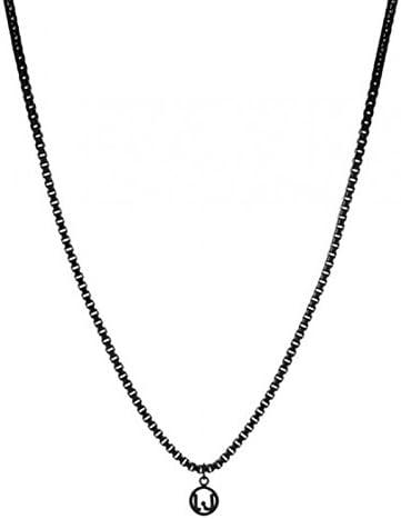 Liu Jo Luxury MLJ002 - Collar para hombre de acero inoxidable, color negro