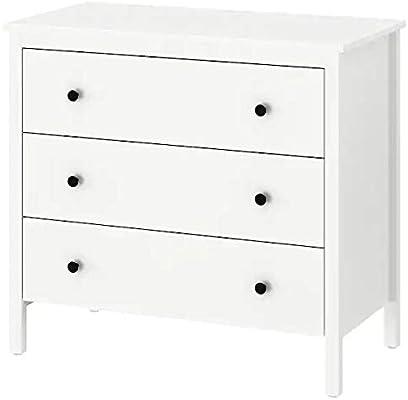IKEA KOPPANG - Cómoda con 3 cajones, Color Blanco, 90 x 83 cm ...