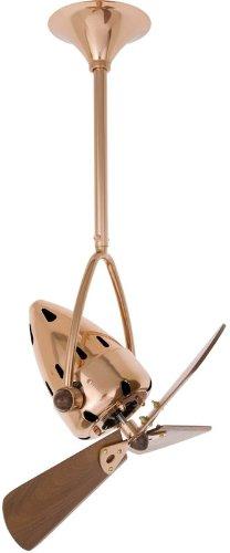 Matthews Fan Company JD-CP-WD Polished Copper Jarold Direcional Handmade 16