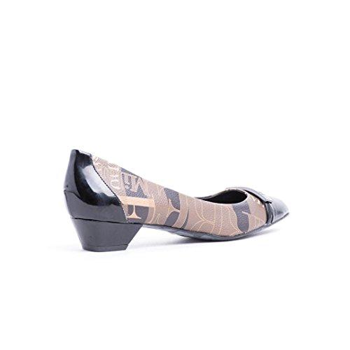 Milano De Piel Zapatos Vestir Ferre Mujer Beige Para TqxBWd