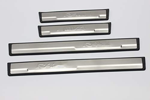 OLIKE for Toyota RAV4 2012-2018 XA40 Fashion Style Stainless Steel Door Sill Scuff Plate Guard Sills Protector Trim