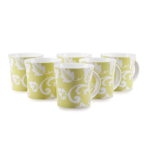 Clay Craft Bone China Jackson Studioline Coffee Mug Set, 150Ml, Multicolor, 6 Piece