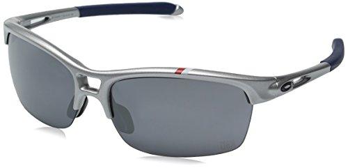 Oakley Women's RPM Squared Non-Polarized Iridium Rectangular Sunglasses, SILVER, 63 mm