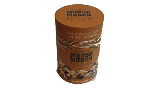 Harry & David Moose Munch Dark Salted Caramel Premium Popcorn Holiday Packaging 10 Ounces