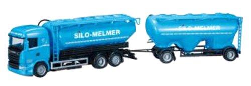 A japan import herpa 1//87 Scania R HL tank trailer Silo Melmer International trade 302555