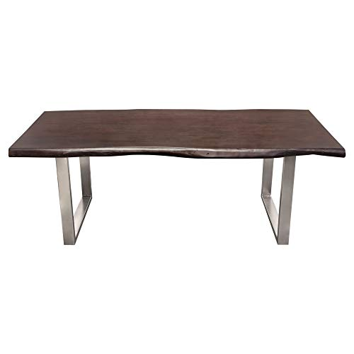 Bowen Diamond Sofa Solid Acacia Wood Top Dining Table BOWENDTES