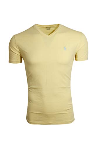 (Polo Ralph Lauren Men's Classic Fit V-Neck T-Shirt Cotton (Medium, Banana Peel))