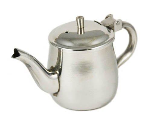 10-oz-Ounce-Gooseneck-Single-Serving-Teapot-188-Gauge-Stainless-Steel