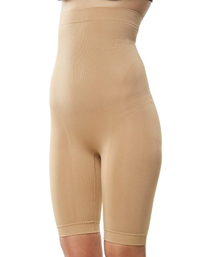 KHAYA Women's Thigh Shapewear High Wasit Slim Short Control Panties Nude XXL