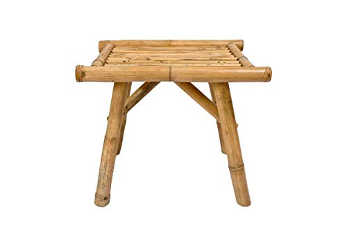 (Bamboo Side Table - Stool - Plant Stand - Accent Table - Indoor/Outdoor Use)