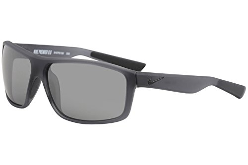 Nike Golf Premier 8.0 Sunglasses, Matte Anthracite/Black Frame, Grey with Silver Flash - Flash Silver Lenses