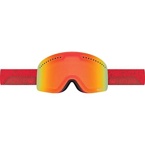Dragon Alliance NFX Stone Ski Goggles, Stone Red/Yellow Red - Dragon Ski