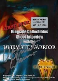 Ringside Collectibles First Ever Shoot Interview with the Ultimate Warrior