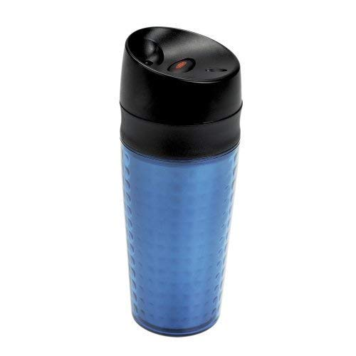 OXO Good Grips Plastic LiquiSeal Travel Mug, Textured Blue