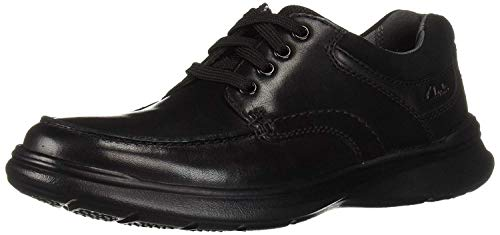 Clarks Men's Cotrell Edge Shoe, black smooth leather, 14 M covid 19 (Smooth Leather Footwear coronavirus)