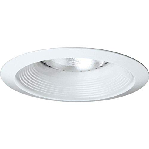 Manchester Trim - Progress Lighting P8075-28 Long Neck Baffle UL/CUL Listed For Damp Locations 7-3/4-Inch O D, White