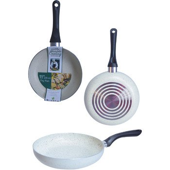 Euro-Home 8228-BE 11'' Marble Fry Pan, Beige, Multicolor