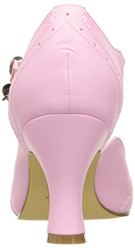 Pinup Couture Damen Flapper-11 T-Bar Pink (Pink Faux Leather)