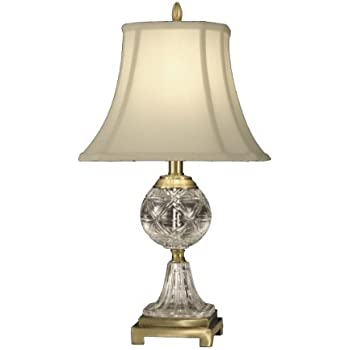 Dale Tiffany GT10370 Crystal Table Lamp, Antique Brass And Fabric Shade