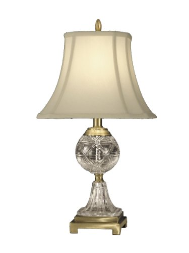 Dale Tiffany Fabric - Dale Tiffany GT10370 Crystal Table Lamp, Antique Brass and Fabric Shade
