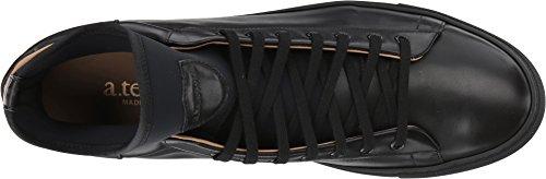 Un. Testoni Mens Mid Cut Sneaker Nero