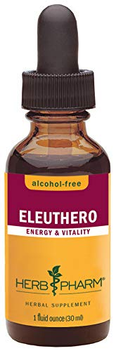 Herb Pharm Alcohol-Free Eleuthero (Siberian Ginseng) Root Liquid Glycerite for Energy and Stamina - 1 Ounce