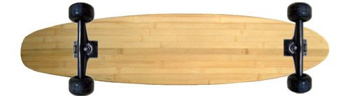 Bam Complete Skateboards (MOOSE Complete Longboard BAMBOO KICKTAIL 70mm Wheels)