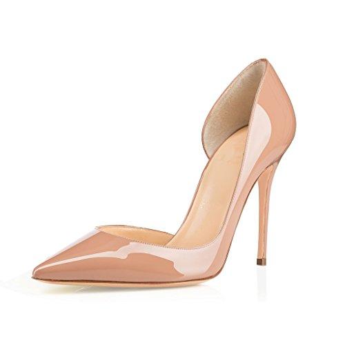 Beige Pointu Dames Femmes Pompes Glisser Edefs Soir D'escarpins Sur Découpes Des De Chaussures Orsay Des Bout xpOqZI