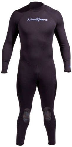 NeoSport Wetsuits Men's Premium Neoprene 1mm Full Suit, Black, Large - Diving, Snorkeling & -